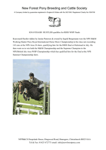 annual general meeting 94 - The New Forest Pony Breeding and