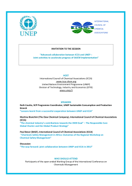 INVITATION - International Council of Chemical Associations