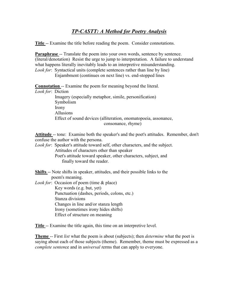 Tpcastt Analysis