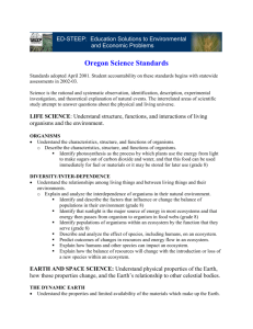 Oregon Science Standards