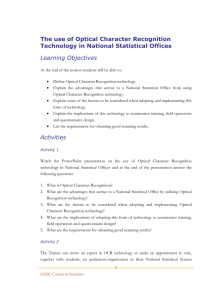 The use of Optical Character Recognition Technology in National