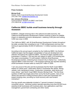 California SBDC builds small business tenacity through recession