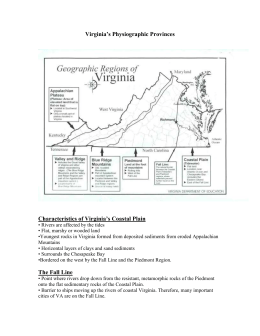 Virginia`s Physiographic Provinces
