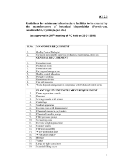 2.3. Guidelines for the minimum infrastructure to be created by the