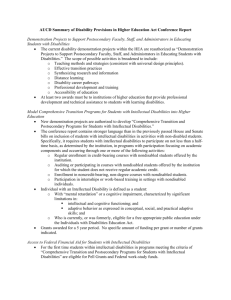 AUCD Summary of Disability Provisions in Higher Education Act