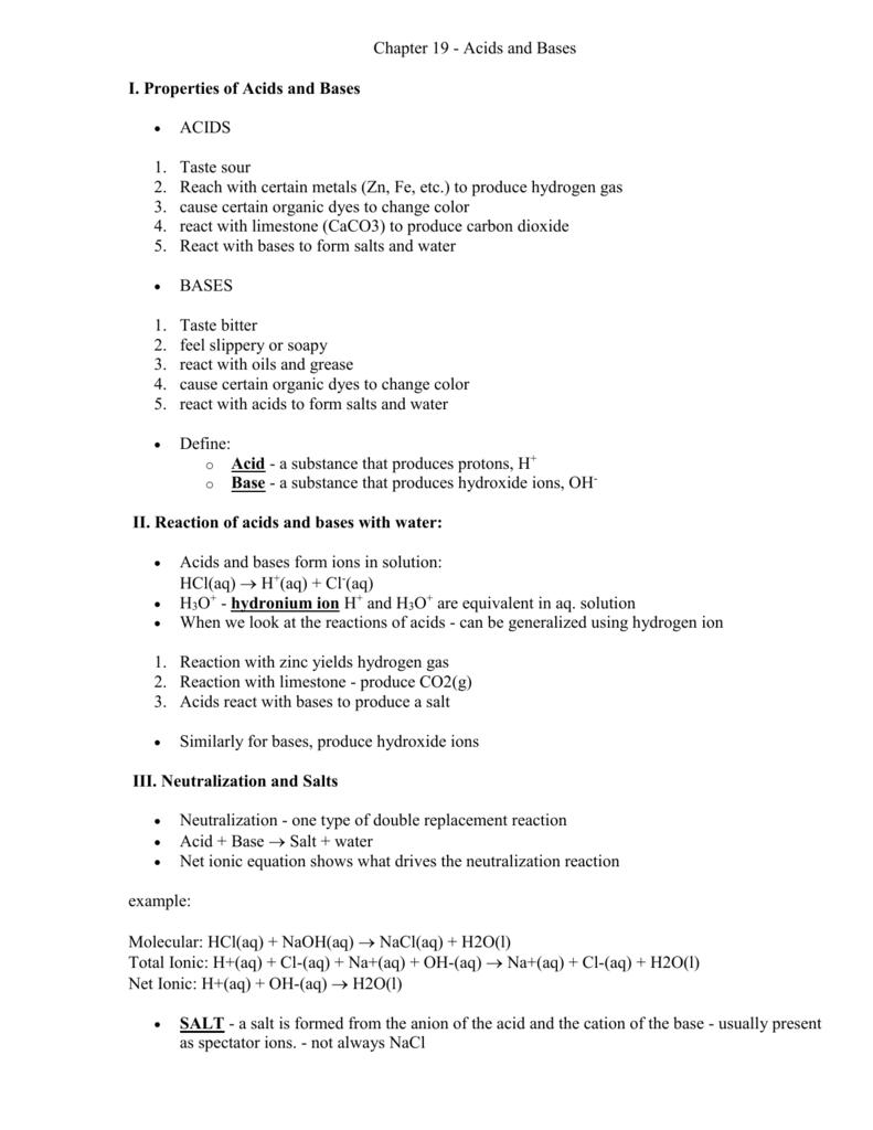 worksheet Chapter 19 Acids Bases And Salts Worksheet Answers chapter 12 acids and bases