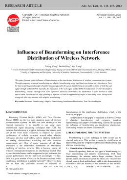 3 impact of beamforming on interference distribution
