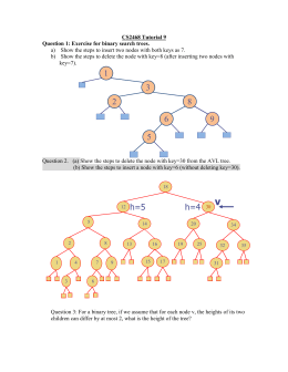 Q1: Exercise for binary search trees