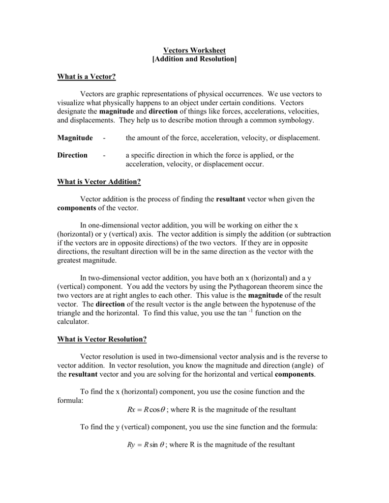Uncategorized Vectors Worksheet vectors worksheet file