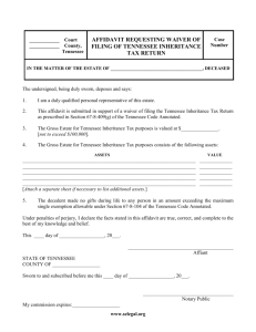 Affidavit Regarding Inheritance Tax Return