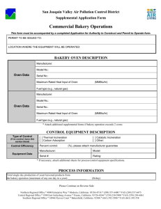 Supplemental Application Form - San Joaquin Valley Air Pollution