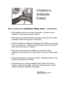 Children & Antibiotics