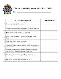 Ancient Egypt and Nubia Study Guide