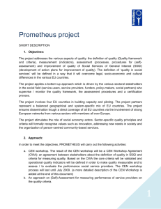 Information on Prometheus project - ENSA