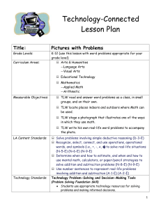 Technology-Connected Lesson Plan