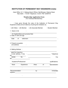 Membership Application Form - Institution of permanent way