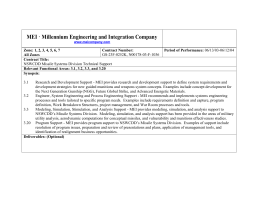 MEI • Millennium Engineering and Integration Company