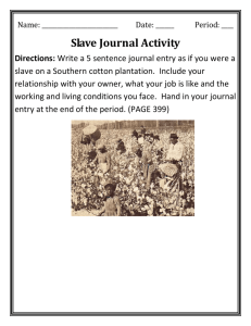 Slave Journal Activity
