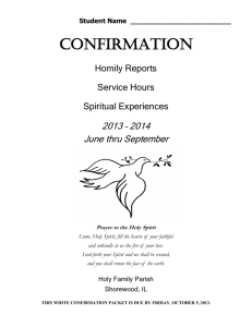 Confirmation Packet - Holy Family Parish
