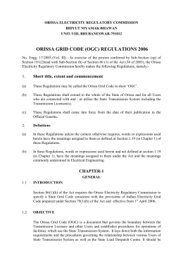 GRID CODE CONTENTS - Orissa Electricity Regulatory Commission
