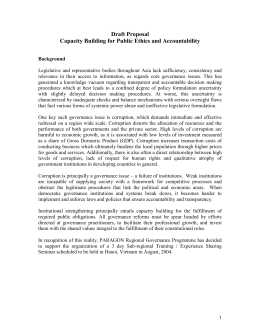 Public Ethics and Accountability: Draft Proposal - Anti
