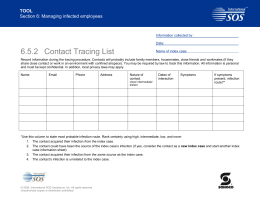 6.5.2 TOOL Contact Tracing List