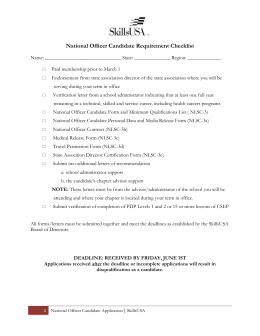 National Officer Application
