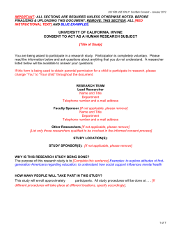 Informed Consent Document Template for Social
