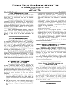 CGHS March 2014 Newsletter