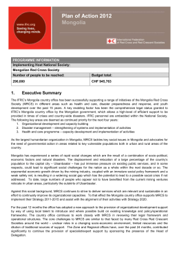 1. Executive Summary - International Federation of Red Cross and