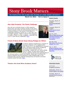 March - Alumni - Stony Brook University
