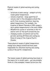 Global Warming Doc - Clydebank High School