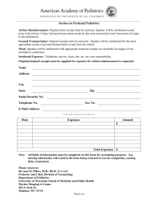 2010 Travel Reimbursement form