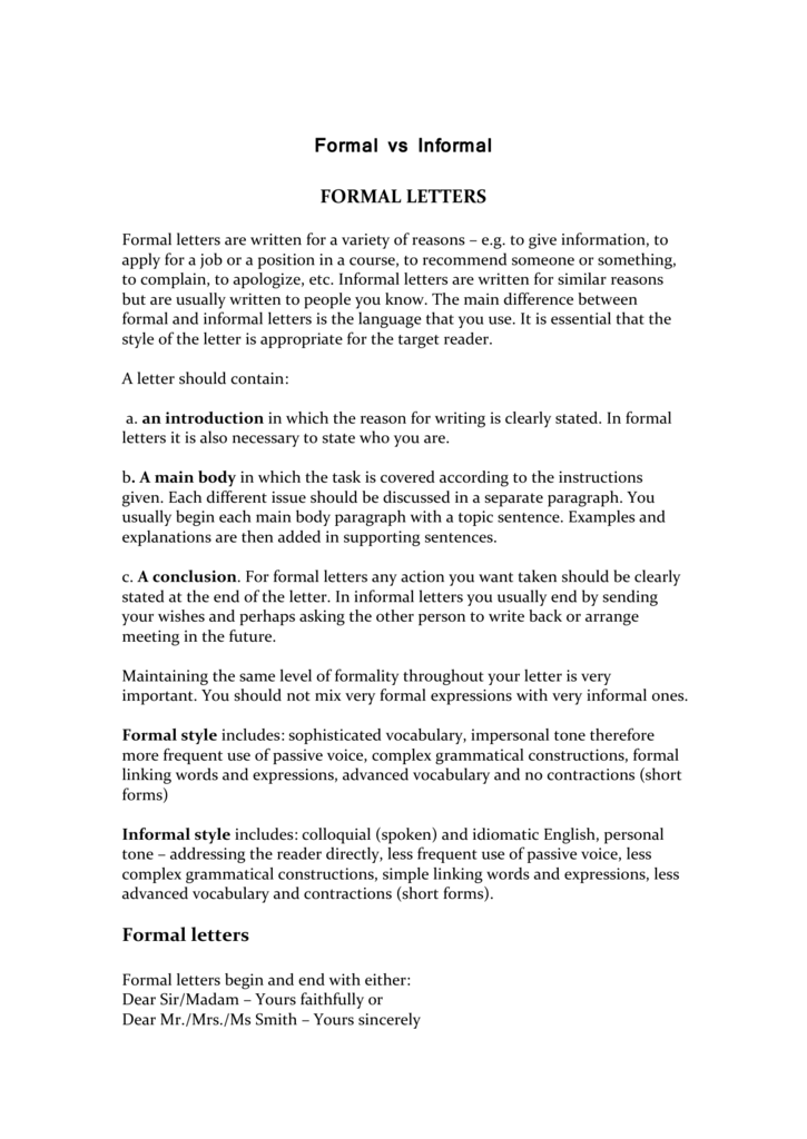 When writing a formal letter how to end it image collections useful language for formal letters requesting andor giving information expocarfo image collections thecheapjerseys Choice Image