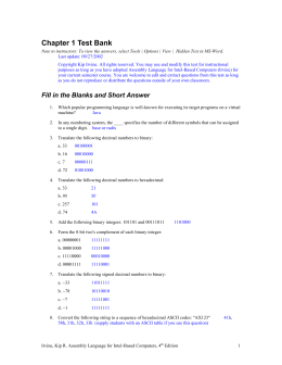 Chapter 1 Test Bank