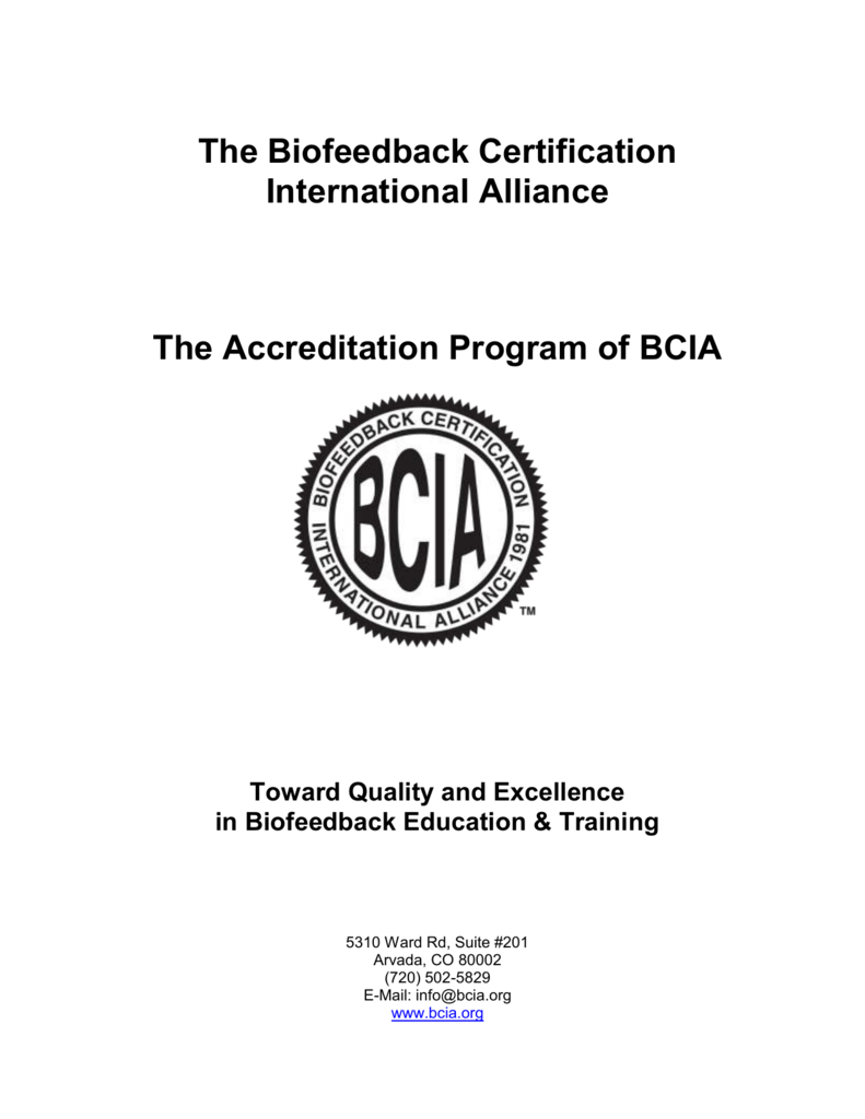Bcia Accreditation Policies Biofeedback Certification International