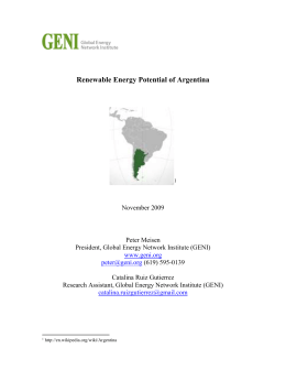 Renewable Energy- Argentina - Global Energy Network Institute