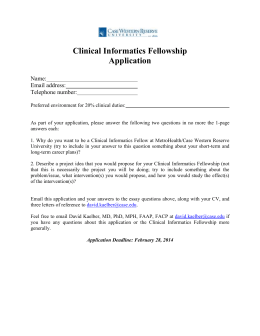 Epic Clinical Informatics Fellowship