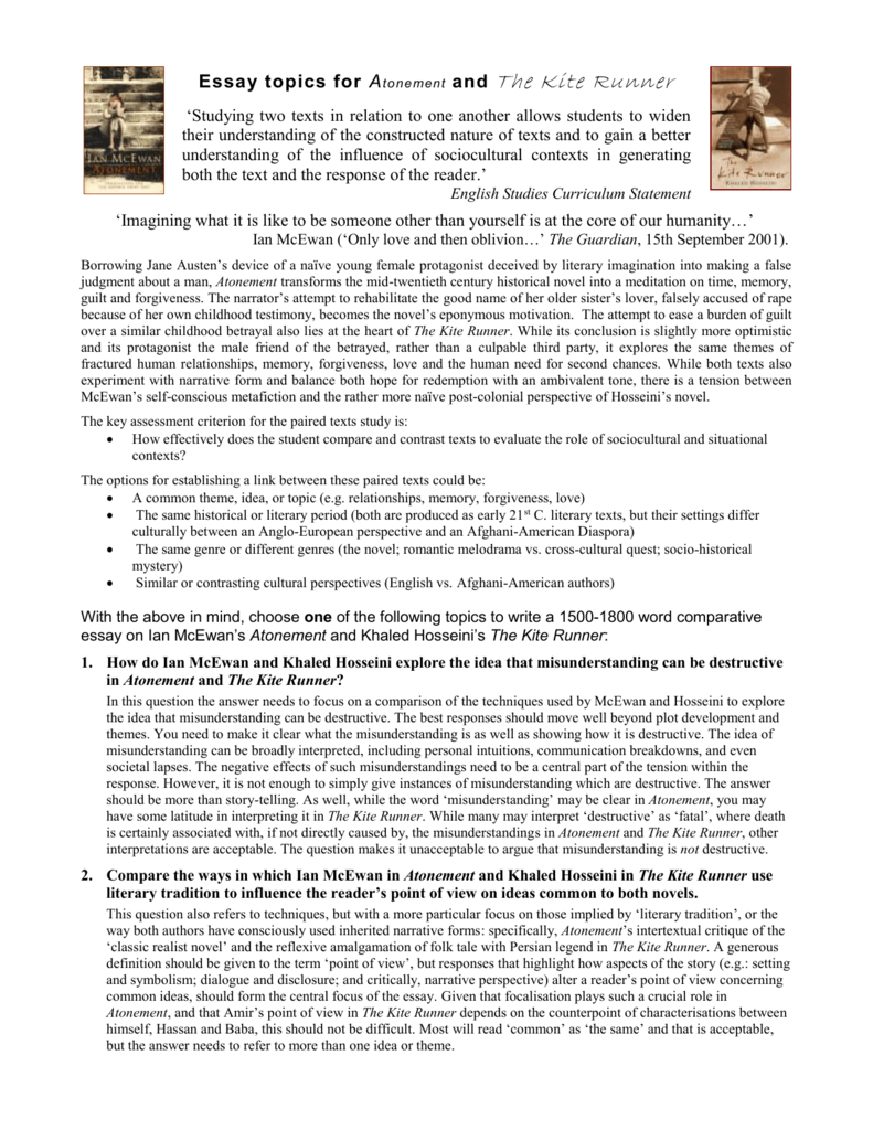 kite runner reflection essay Kite runner - relationship essay as kite runner progresses both amir and baba undertake flee to america it is here where amir and baba both discover themselves.