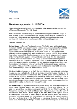 NHS Fife - Public Appointments