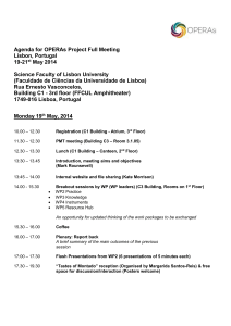 Draft Agenda for OPERAs PMT meeting on December 19th in