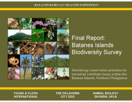 Final Report Batanes Biodiversity Survey - quantum