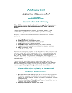 Helping your child read - Little Chute Area School District