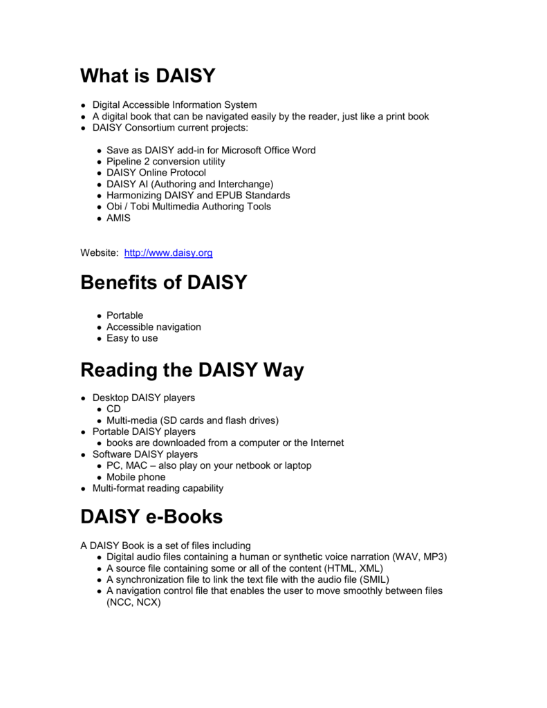 Create a DAISY Book