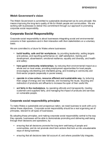Corporate Social Responsibility - Business Wales