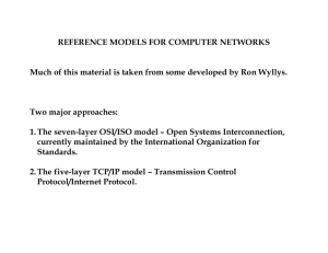 REFERENCE MODELS FOR COMPUTER NETWORKS