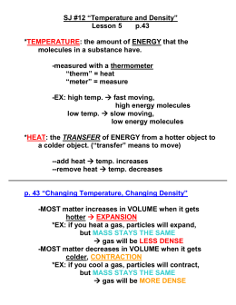 "SJ #11 ""Temperature and Density Notes"""