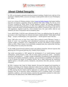About Global Integrity - Philippine Center for Investigative Journalism