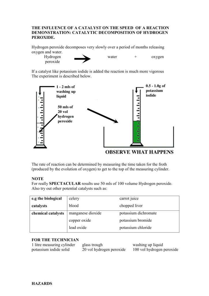 Iodine Clock Reaction Essay Sample