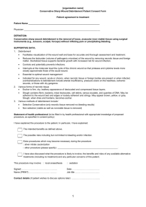 03/17/08 Debridement Consent Form